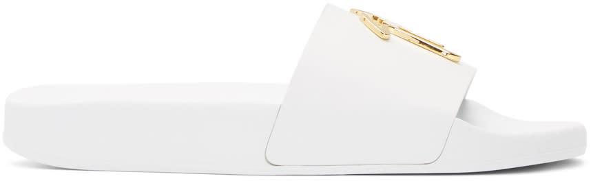 Giuseppe Zanotti White Laburela Slides