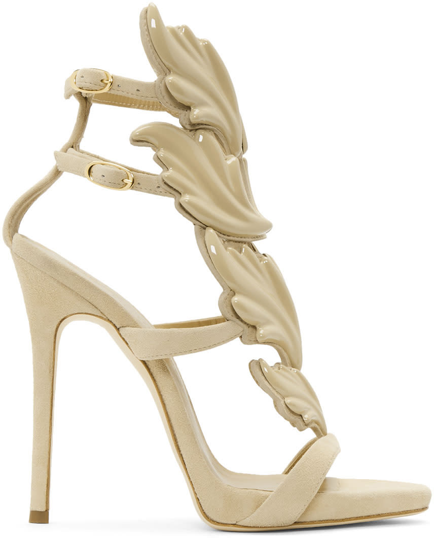 Image of Giuseppe Zanotti Beige Coline Wings Sandals