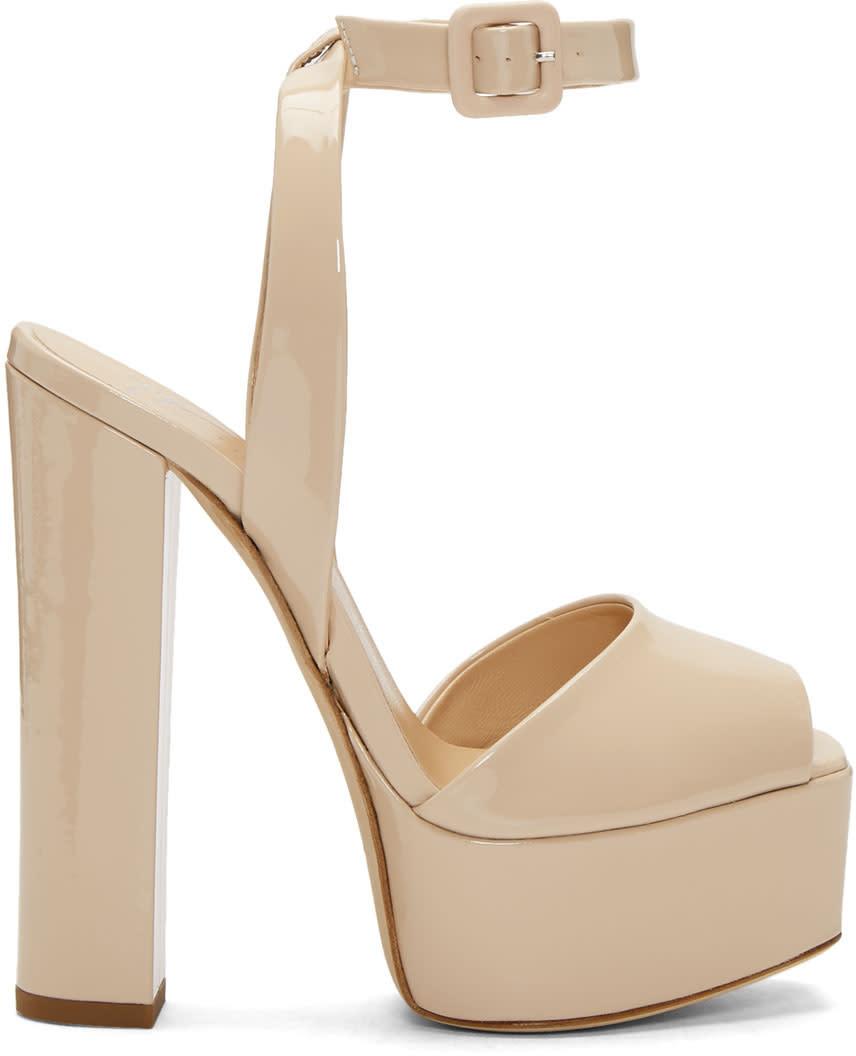 Giuseppe Zanotti Ssense Exclusive Pink Patent Lavinia Platform Sandals