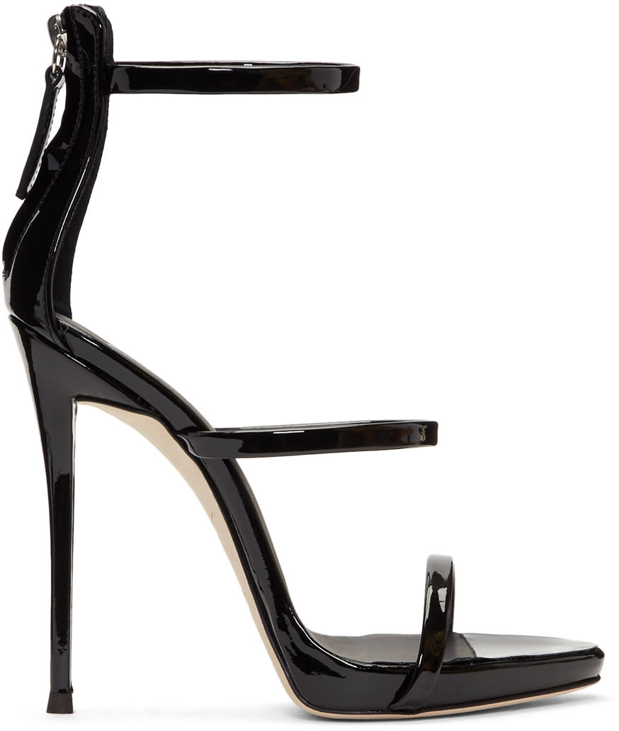 Giuseppe Zanotti Black Coline Three-strap Sandals