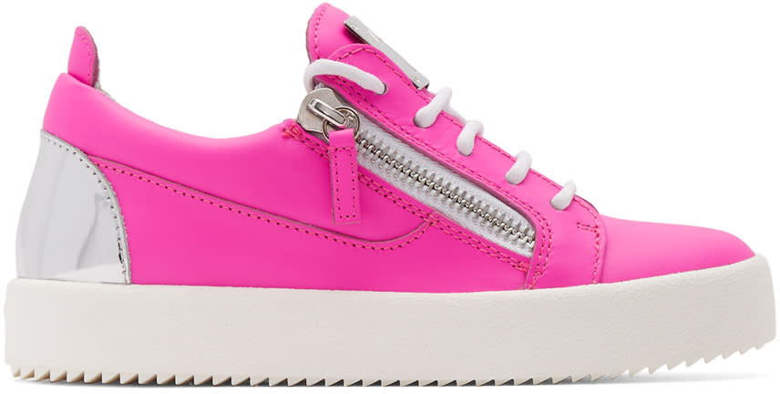 7abc654e398 Giuseppe Zanotti Pink and Silver Neon May London Sneakers