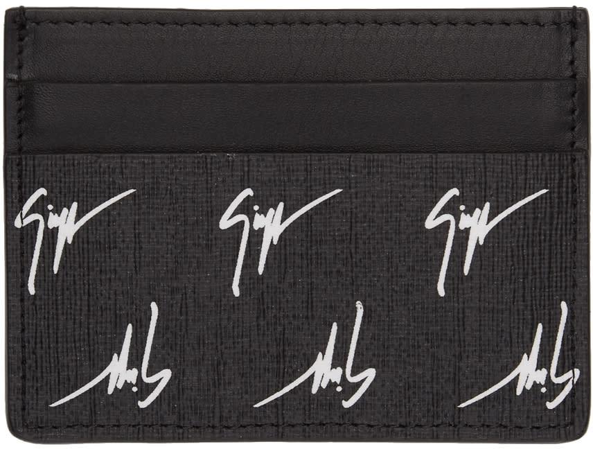Giuseppe Zanotti Porte-cartes à Logo Noir