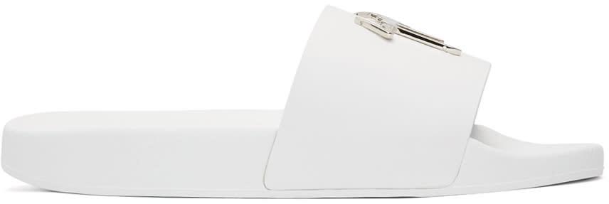 Giuseppe Zanotti White Logo Sandals