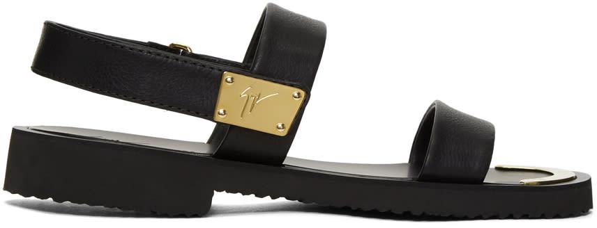 Giuseppe Zanotti Black Gomzak Sandals