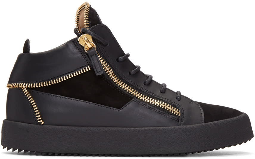 Giuseppe Zanotti Black Zipper May London High-top Sneakers
