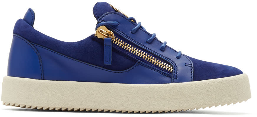 Giuseppe Zanotti Indigo Suede May London Sneakers