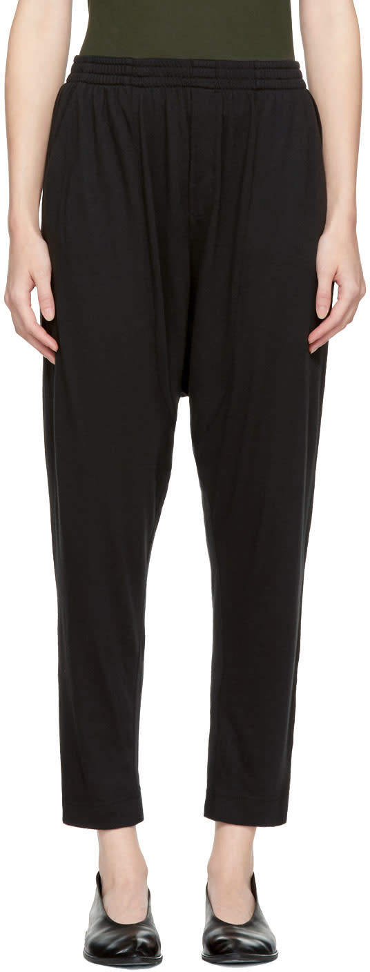 Image of Raquel Allegra Black Drop Rise Lounge Pants