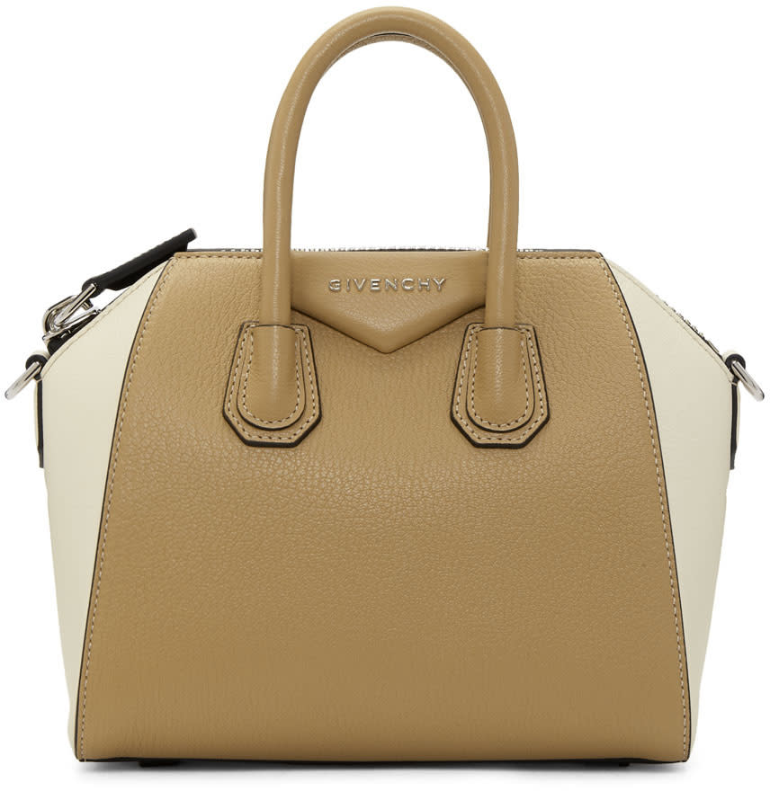 Image of Givenchy Beige and Off-white Mini Antigona Bag