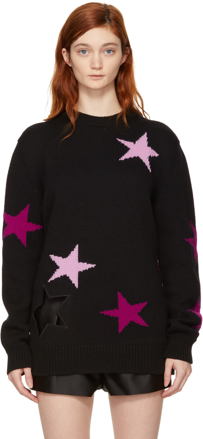Givenchy Black Oversized Stars Sweater