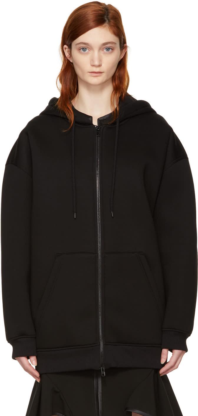 Givenchy Black Logo Hem Zip Hoodie