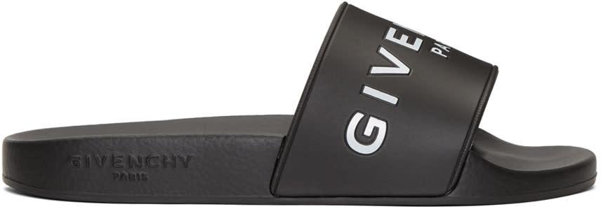 Givenchy Black Logo Beach Slides