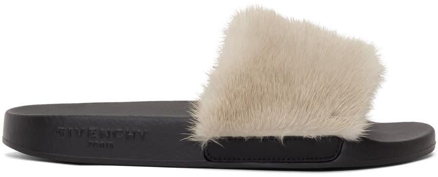 Givenchy Beige Mink Slides