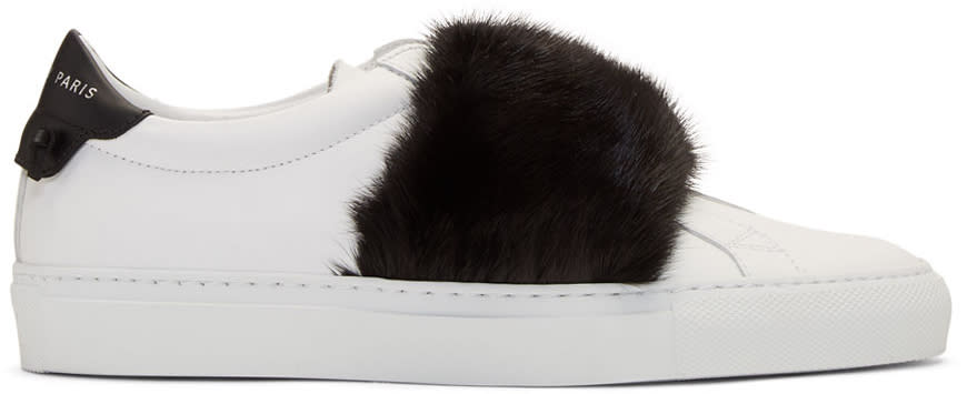 161650230c37f Givenchy White and Black Mink Urban Knots Sneakers
