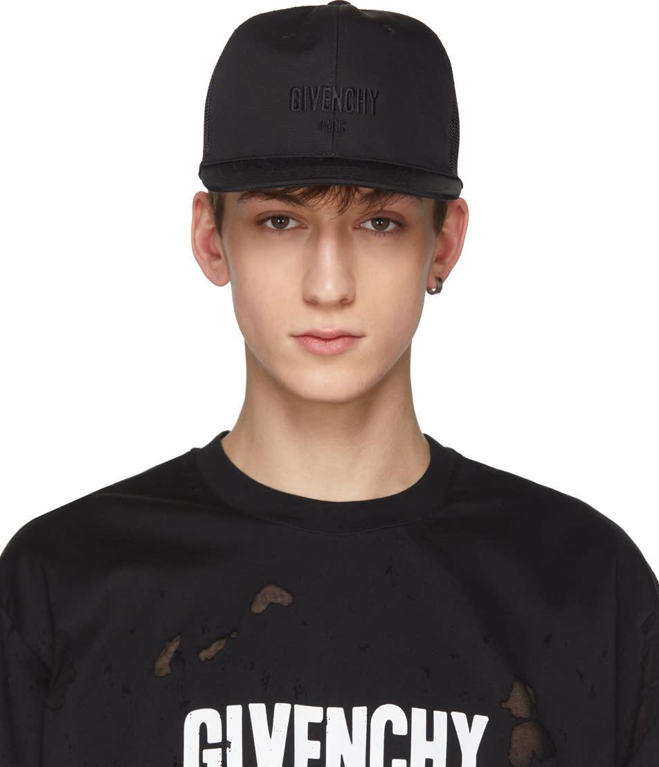 0a8935078c5 Givenchy Black Three star Logo Cap