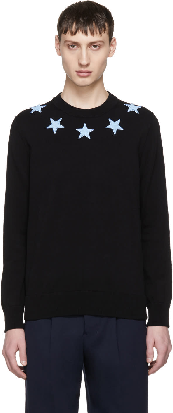 Image of Givenchy Black and Blue Stars Sweater