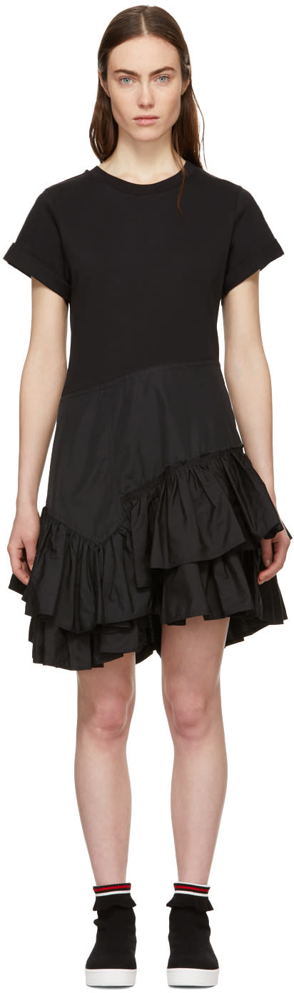 31 Phillip Lim Black Flamenco T shirt Dress