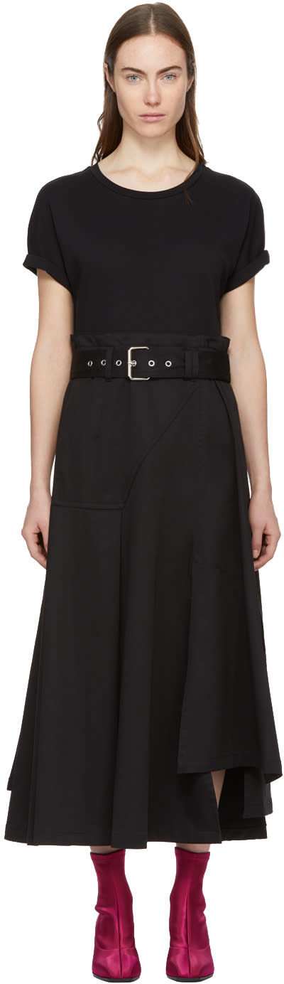 31 Phillip Lim Black Jersey T shirt Dress