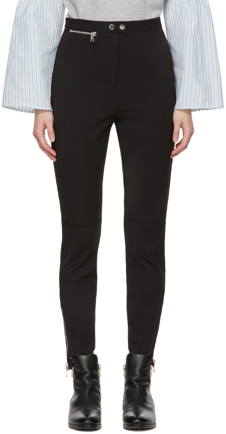 31 Phillip Lim Black Ankle Zip Leggings