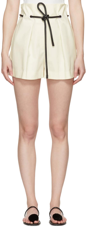 31 Phillip Lim White Origami Pleated Shorts