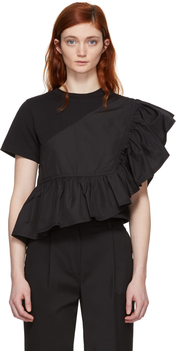31 Phillip Lim Black Flamenco T shirt