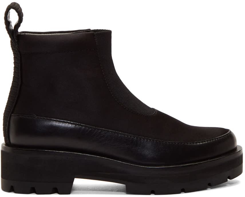 31 Phillip Lim Black Avril Lug Sole Boots