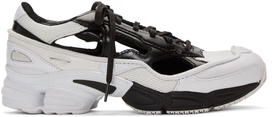 Raf Simons Baskets Noires Et Blanches Ozweego Replicant édition Adidas Originals