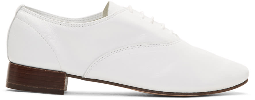 Repetto White Zizi Oxfords