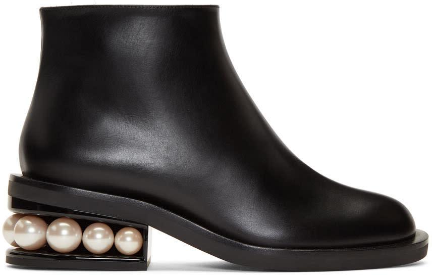 Image of Nicholas Kirkwood Black Casati Pearl Ankle Boots