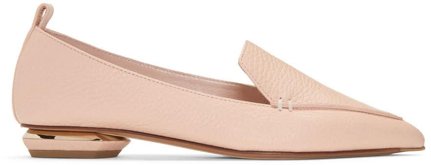 Nicholas Kirkwood Pink Leather Beya Loafers