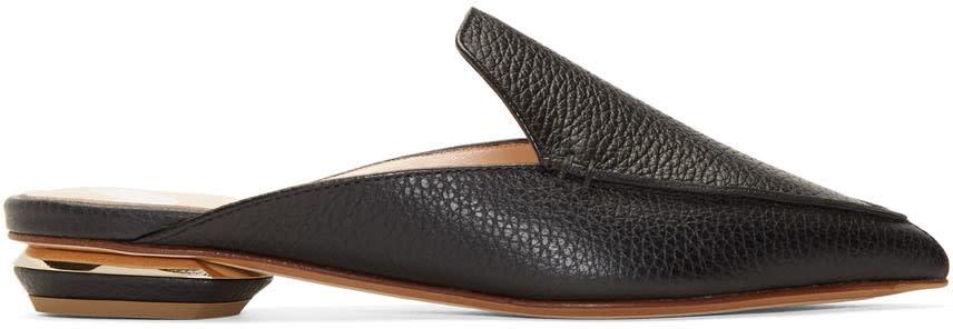 Nicholas Kirkwood Black Leather Beya Mules
