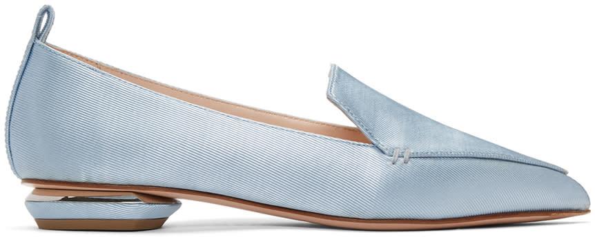 Nicholas Kirkwood Blue Satin Beya Loafers