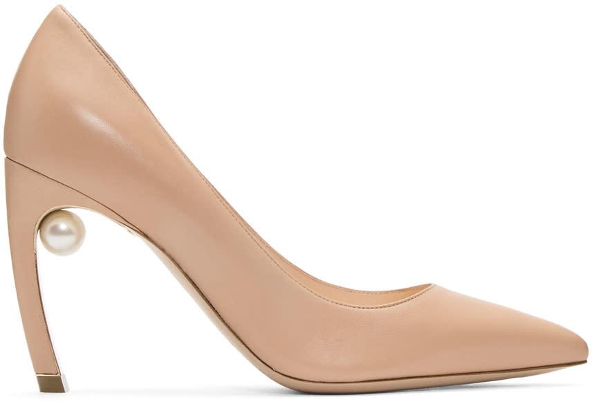 Nicholas Kirkwood Beige Mira Pearl Heels
