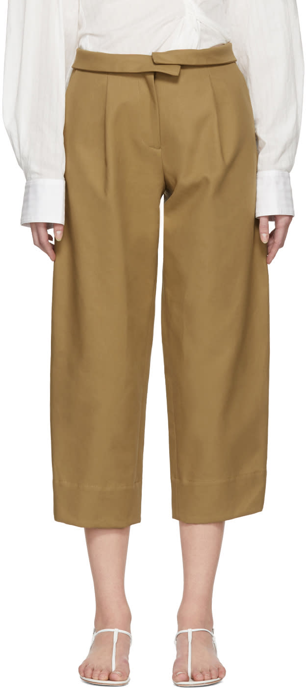 Image of Carven Beige Cropped Trousers