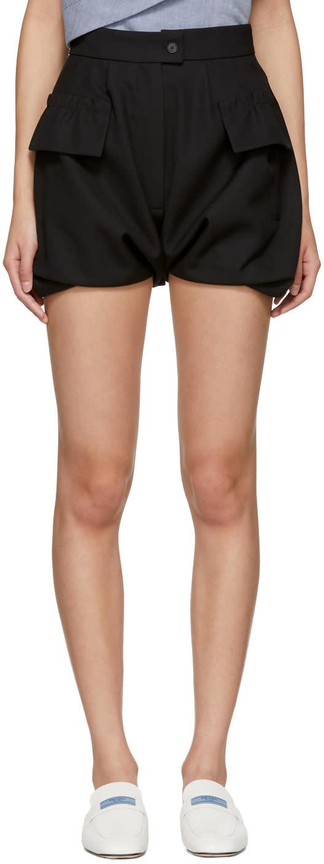 Image of Carven Black Bloomer Shorts