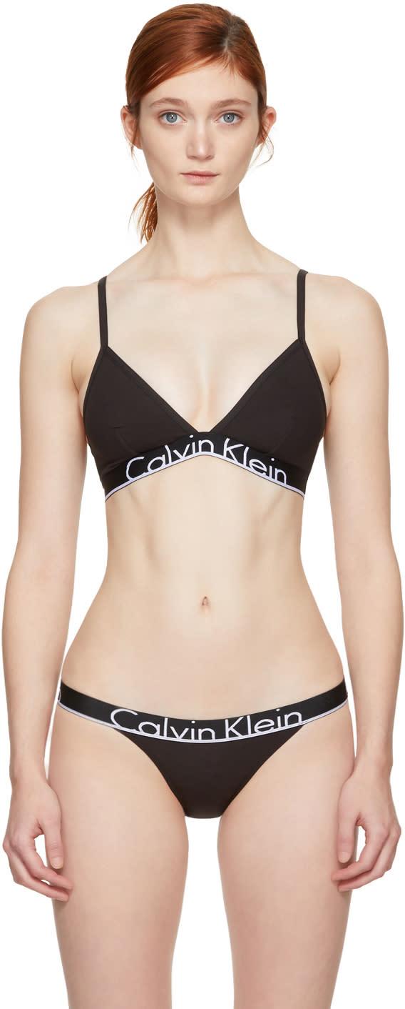 a6516d36d9f Calvin Klein Underwear Black Unlined Triangle Bra