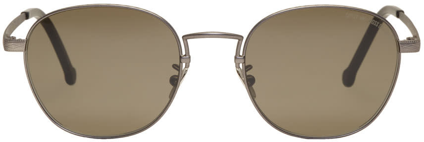 Image of Cutler And Gross Gunmetal and Grey 1274 Sunglasses
