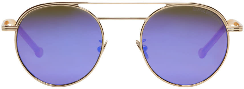 Image of Cutler And Gross Gold and Purple 1269 Sunglasses