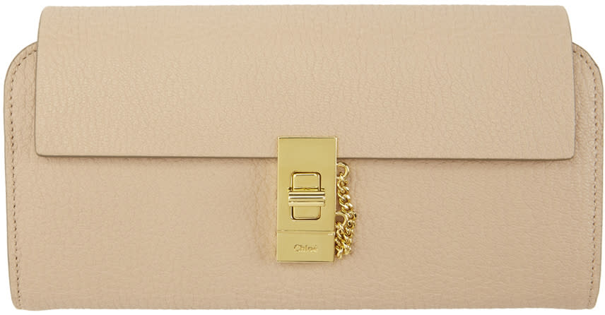 ff8a50fc Chloé Pink Drew Flap Wallet