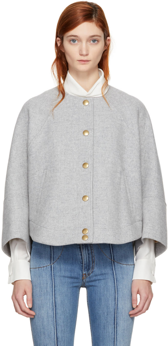 Chloé Grey Wool Short Jacket