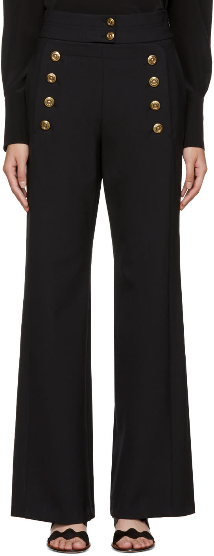 Chlo� Black Sailor Trousers