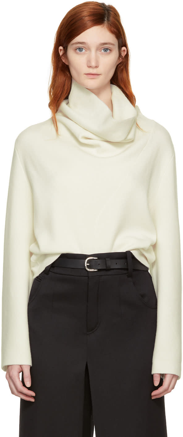 Chloé Off-white Cashmere Turtleneck