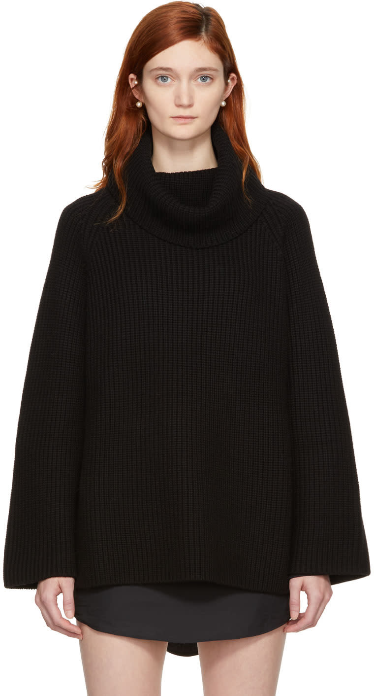 Chloé Black Oversized Long Turtleneck
