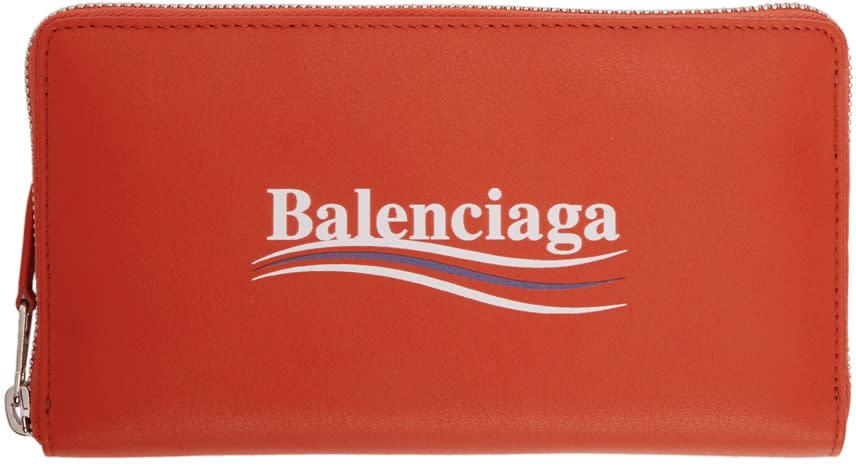 Balenciaga レッド エブリデイ キャンペーン ウォレット