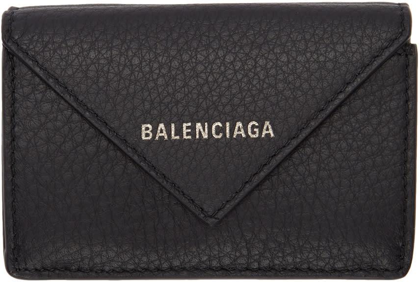 Balenciaga ブラック ミニ ペーパー ウォレット