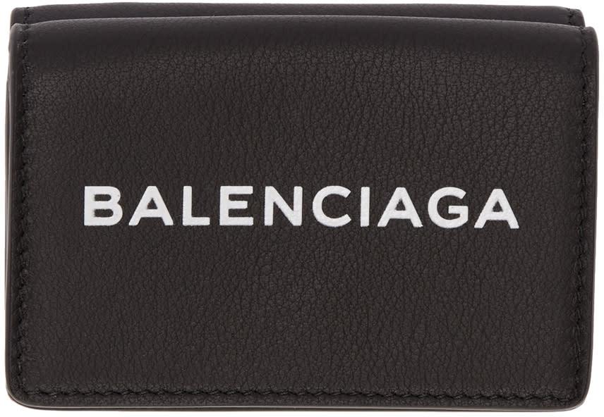 Balenciaga ブラック エブリデイ ミニ ウォレット