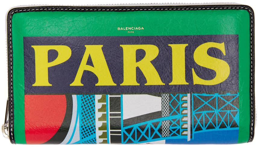 Balenciaga マルチカラー Paris コンチネンタル ウォレット