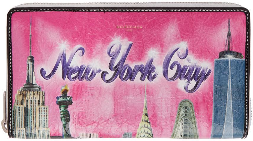 Balenciaga マルチカラー New York コンチネンタル ウォレット