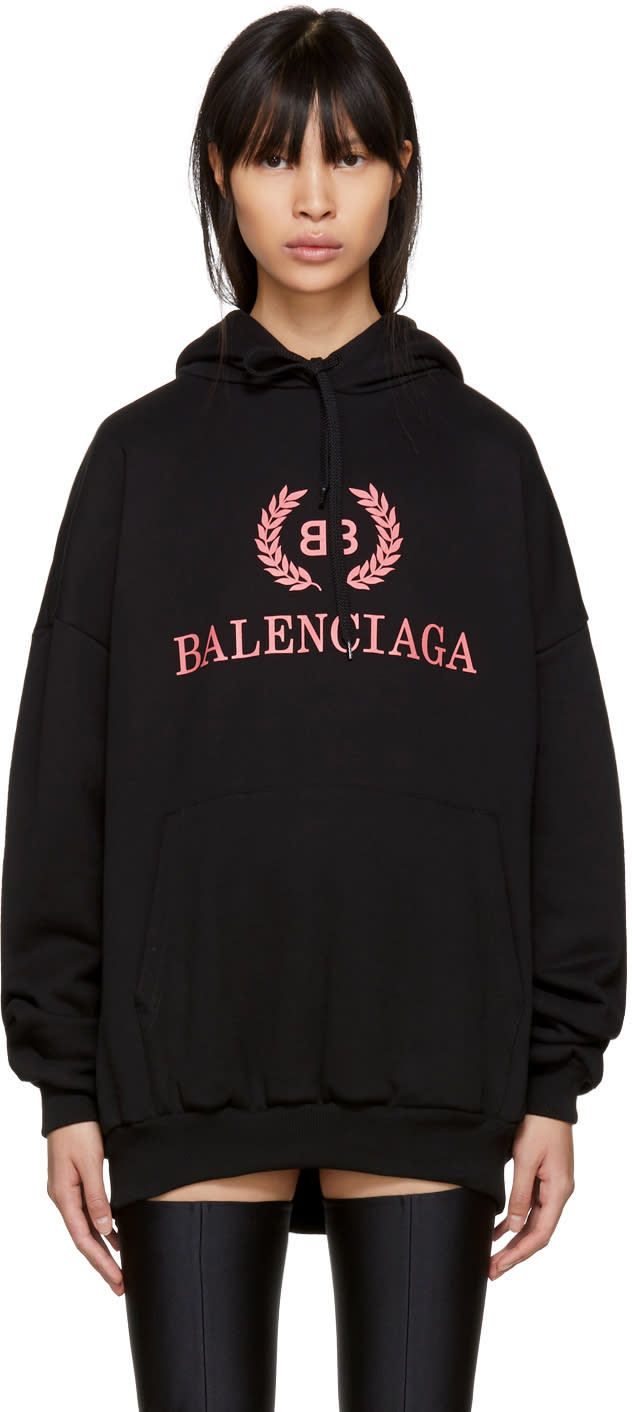 Image of Balenciaga Black bb Hoodie
