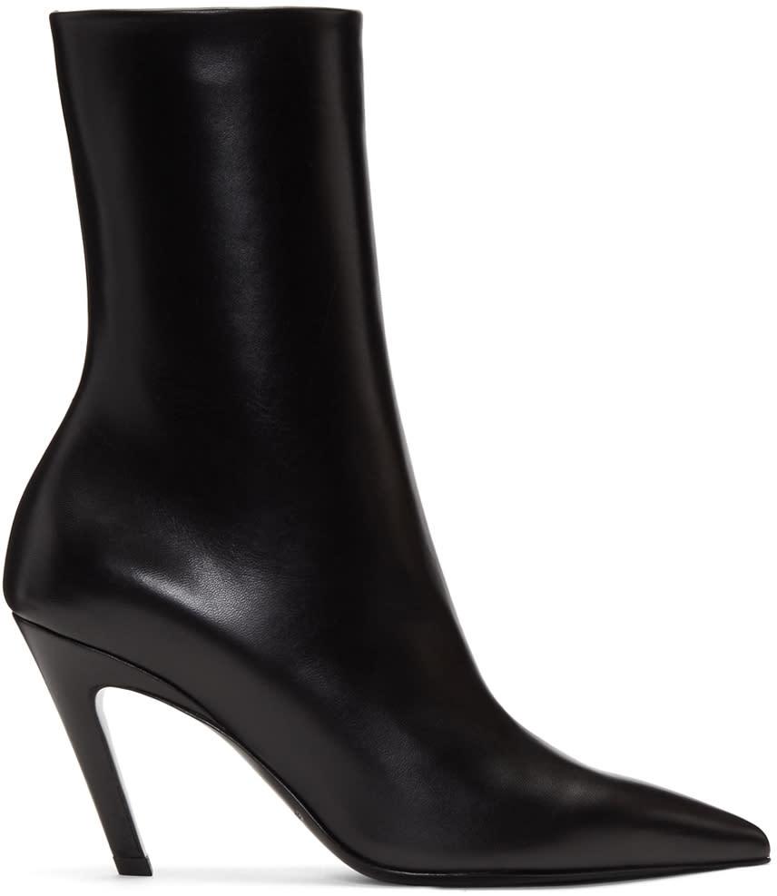 Balenciaga-Black-Slash-Heel-Boots