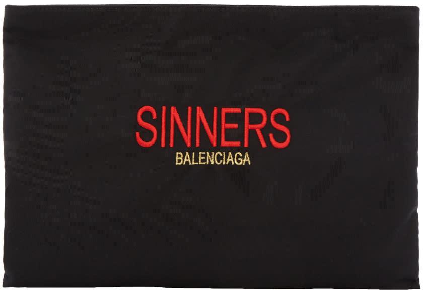 4a47cfca95b0 Balenciaga Black sinners Explorer Pouch